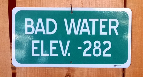 Bad Water Elevation Road Sign
