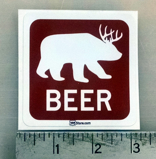 Beer Bear Sticker