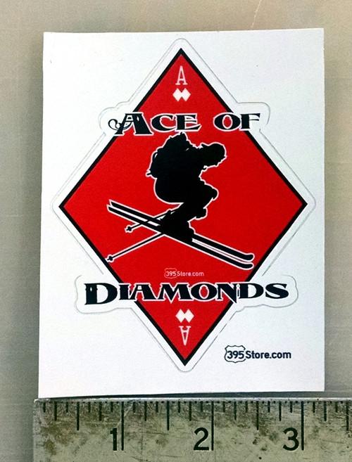 Ace of Diamonds Snow Ski Sticker