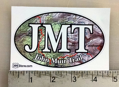 JMT John Muir Trail Topo oval sticker