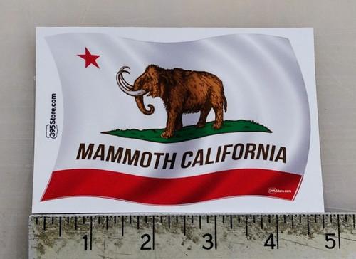 Mammoth California Flag Sticker
