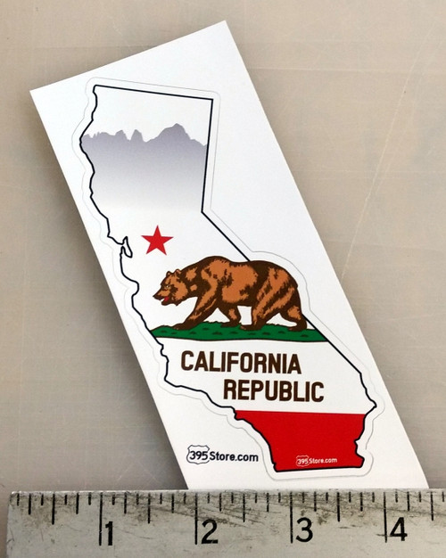 California Flag - State Shape Sticker