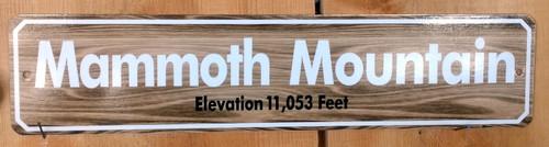 Mammoth Mountain Sign - Digital Print on Aluminum