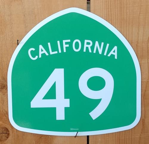 California Highway 49 Sign