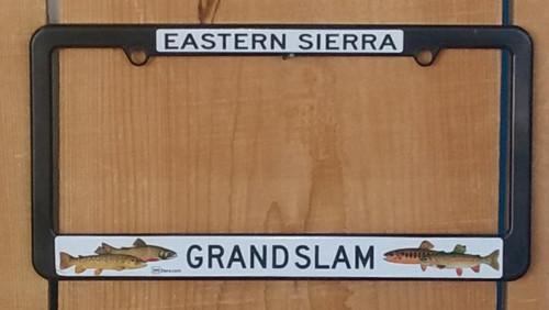 License Plate Frame - Eastern Sierra Fishing - Grand Slam