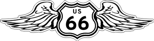 Route Highway 66 Wings Sticker