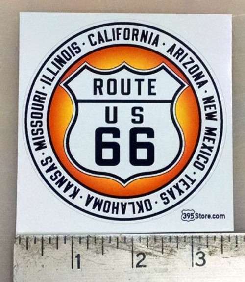 Route 66 CA AZ NM TX OK KS MO IL sticker