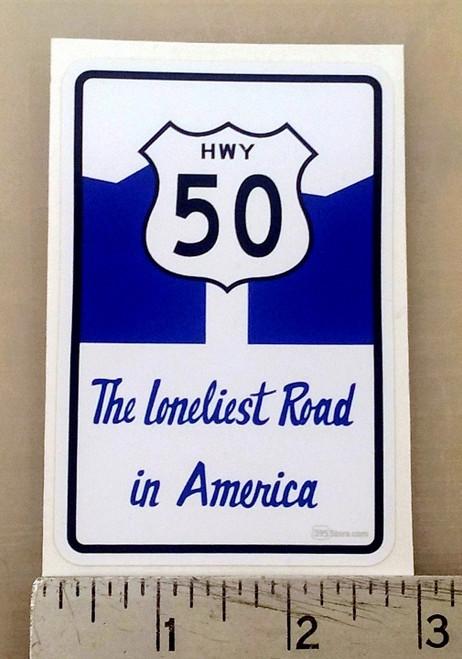 Highway 50 Loneliest Road sticker