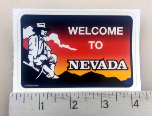 """Welcome to Nevada"" Sticker"
