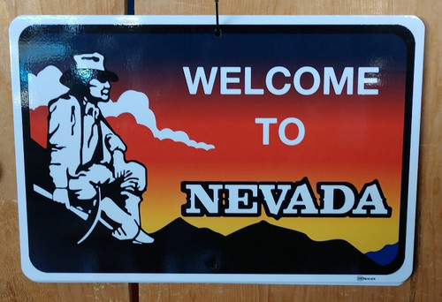 Welcome to Nevada Scenic byway sign