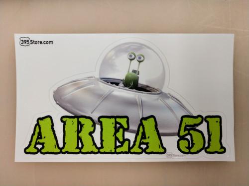 Area 51 alien sticker