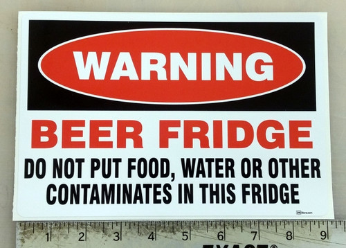 Beer Fridge Sticker