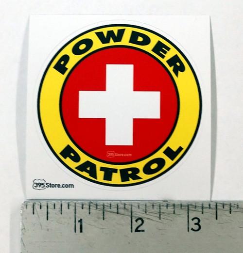 Powder Patrol Snow Ski Snowboard Sticker