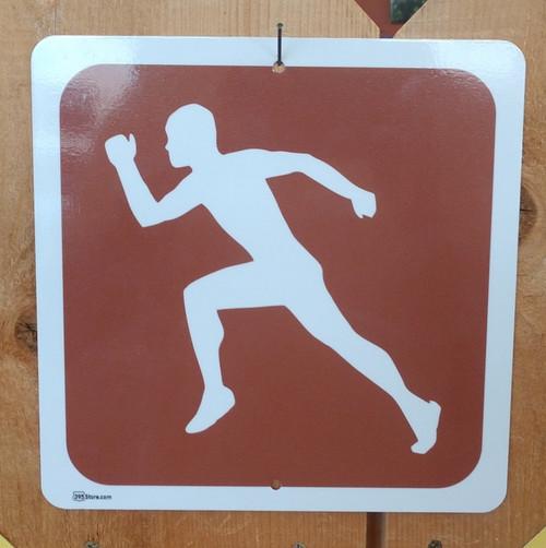 Runner Jogger Marathon Male Recreation Symbol Sign