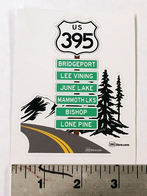 Route 395 Road Trip sticker