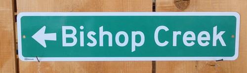 Bishop Creek Road Sign