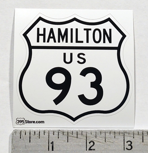 Hamilton Montana Route 93 Sticker