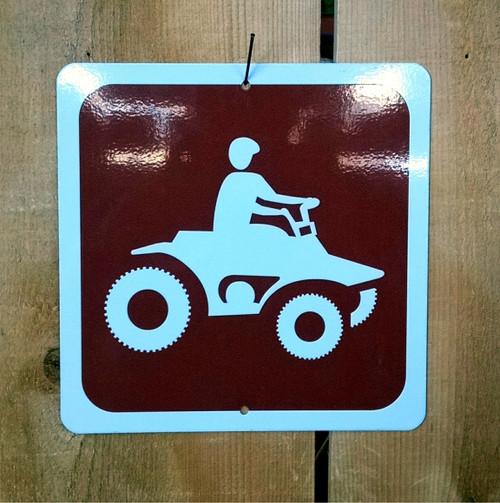 ATV Quad Riding Recreation Symbol Sign