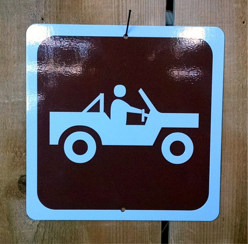 4x4 Offroad Recreation Symbol Sign