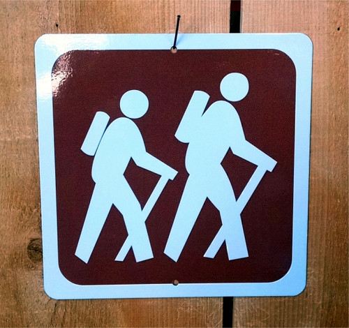 Backpacking Hiking Recreation Symbol Sign