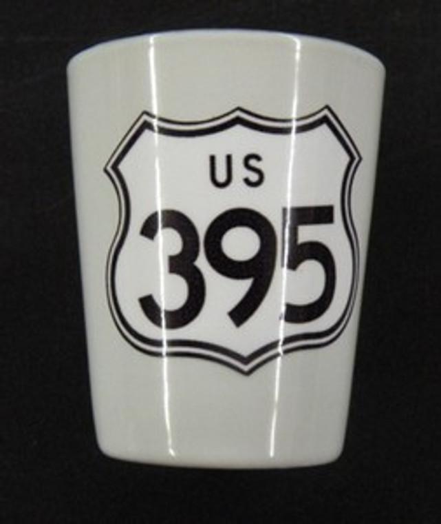 US 395 Shot Glass