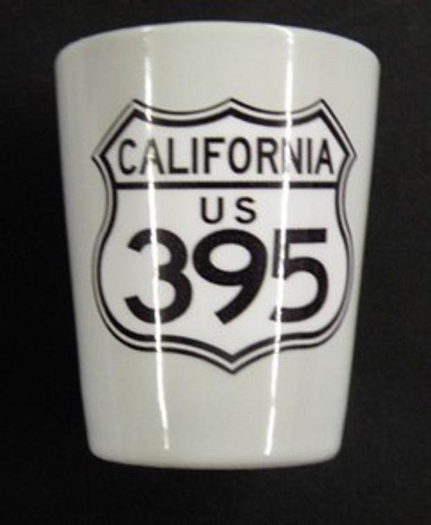 California 395 Shot Glass