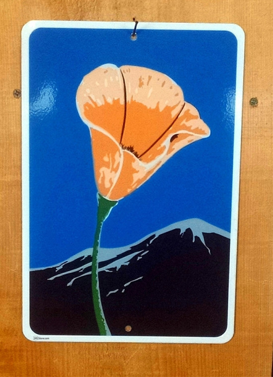 California Scenic Byway Poppy sign