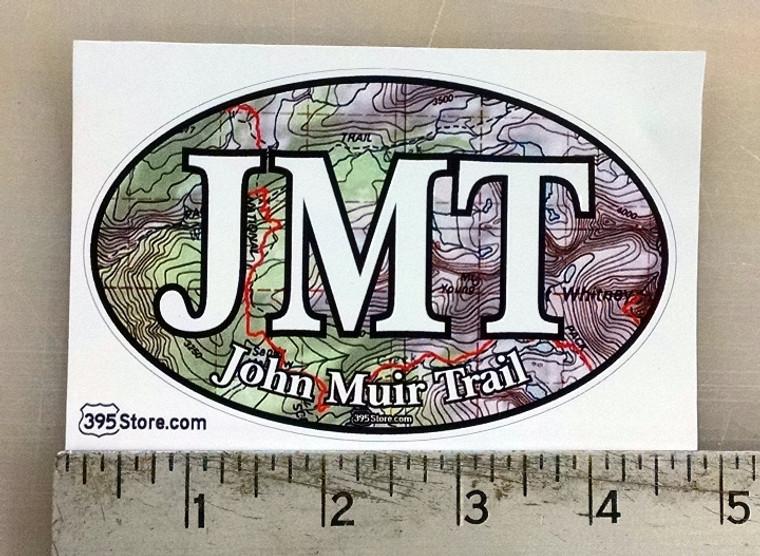 JMT John Muir Trail Topo oval sticker