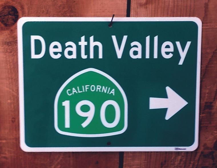 Death Valley Exit Sign