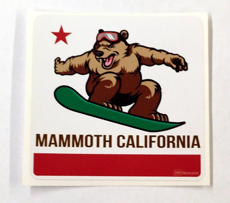 California Bear Mammoth Snowboarding Sticker
