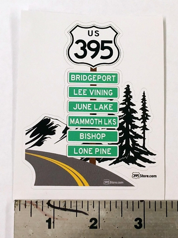 Route 395 Road Trip sticker