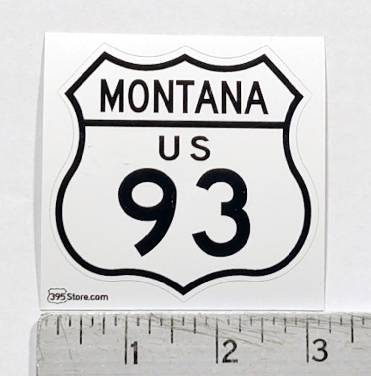 Montana Route 93 Sticker