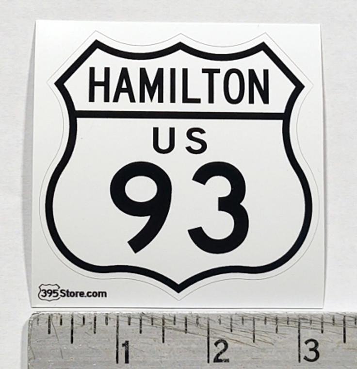 Hamilton Montana Route 93 Sticker