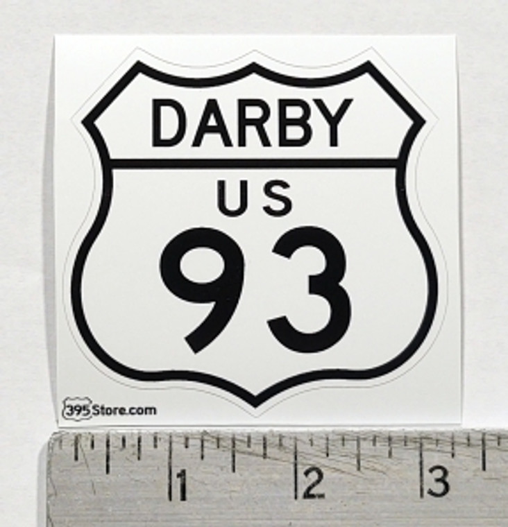 Darby Montana Route 93 Sticker