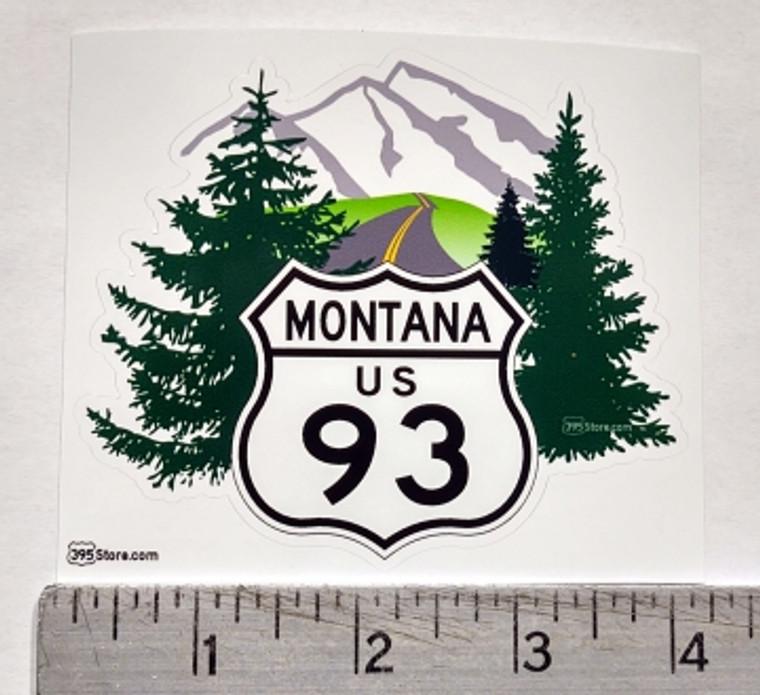 Love 93 Montana Bitterroot Route Highway sticker