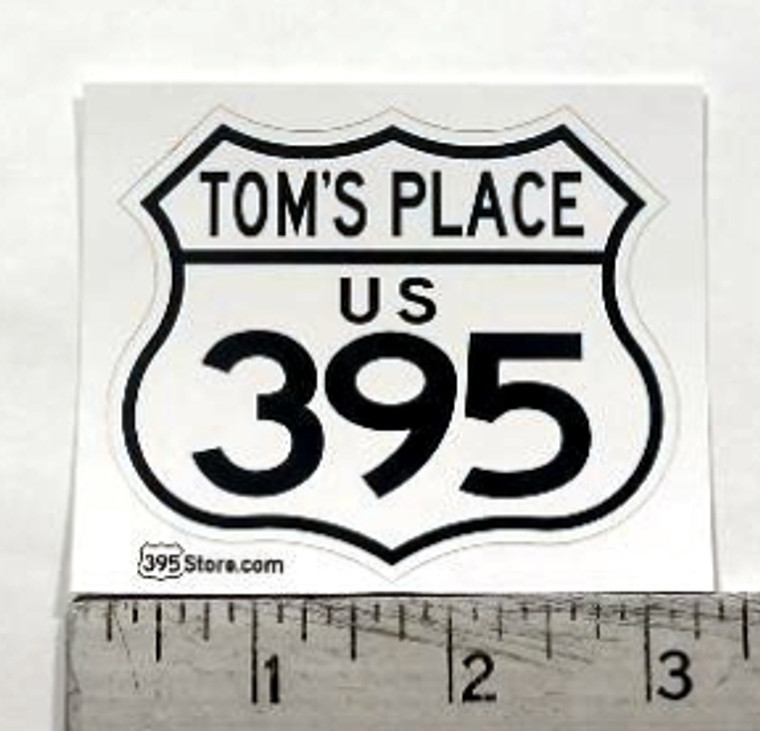 Tom's Place 395 Sticker