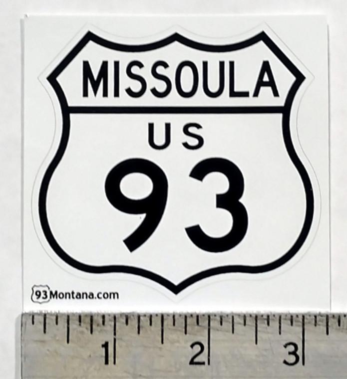 Missoula Montana 93 Sticker
