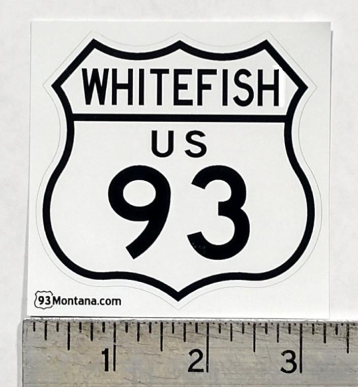 Whitefish Montana 93 Sticker