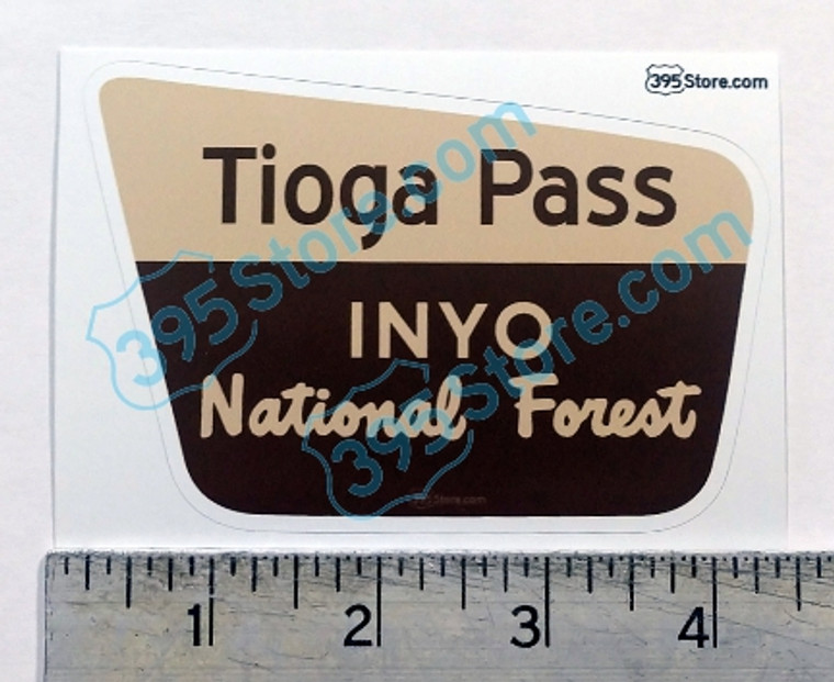 Tioga Pass  - Inyo National Forest Sticker