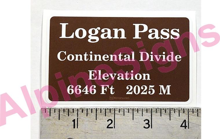 Logan Pass - Continental Divide - Sticker