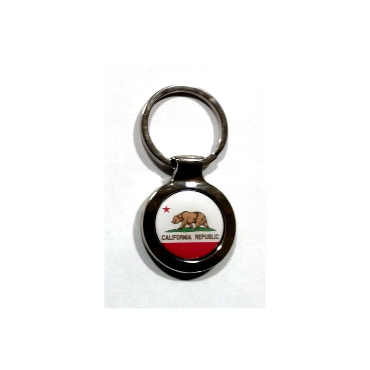 California Flag Keychain