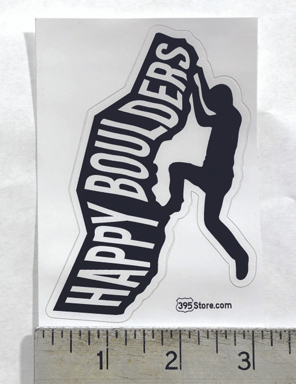 Happy Boulders Bouldering Climber Sticker