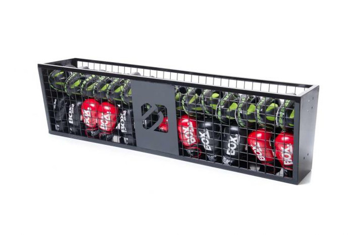 The Octagon Storage Cage can be fitted to shelving legs as stand-alone storage, or bolted to any existing Escape functional frame for aesthetic tie-in with practical application. Wherever it's housed, the cage's ventilated sides makes it ideal for equipment such as boxing accessories, keeping training gloves, pads and BOA Mitts tidy and fresh for longer, too.  Equipment sold separately.