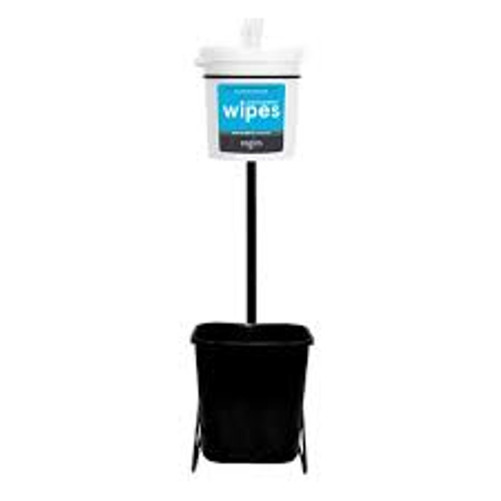 "Specifications  Dimensions	13"" w x 38"" h x 17.5"" d Waste Basket Capacity	7 gallons  NOTE: Gym wipes are NOT included with this dispenser. Please order Zogics Gyms Wipes separately."