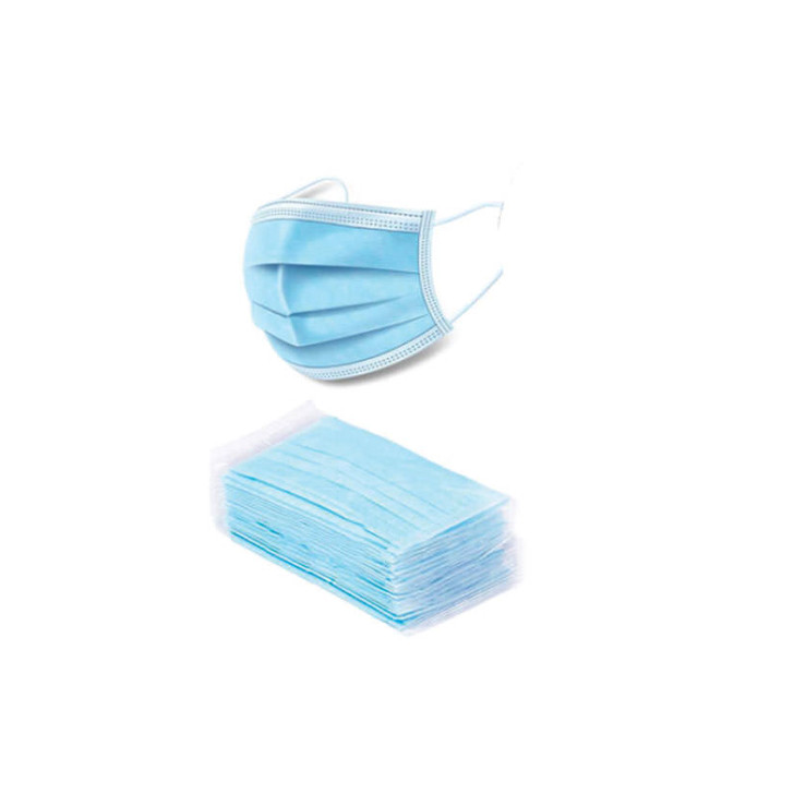 Latex Free Materials & Construction 3-Ply Face Covering with Earloops attached Disposable & Not For Reuse Sold by the box of 50