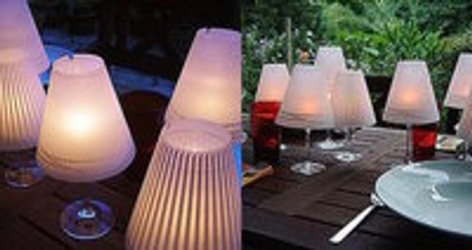 DIY Lighting - How to make wine glasses into mini table lamps!