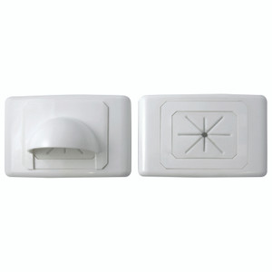 Large Bullnose Outlet Plate White