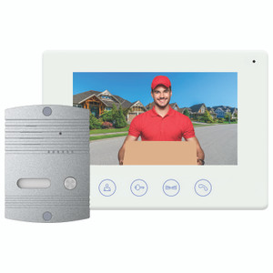 Wi-Fi Video Doorbell with Colour Monitor and Smart Device Access