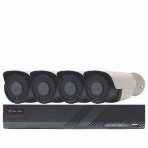 PoE Security 8CH NVR Kit with 2TB HDD, 4x 5MP Bullet
