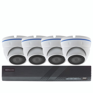 PoE Security 8CH NVR Kit with 2TB HDD, 4x 5MP Dome